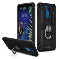 Armor Ring Finger Loop Hybrid Case for LG K40 - Black