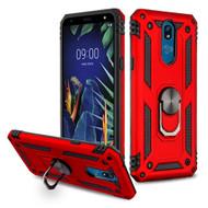 Armor Ring Finger Loop Hybrid Case for LG K40 - Red