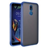 Frost Semi Transparent Hybrid Case for LG K40 - Blue