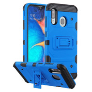 Military Grade Certified Storm Tank Hybrid Armor Case with Stand for Samsung Galaxy A20 - Blue