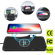 Anti-Slip Silicone Valet Tray with 10W Fast Wireless Qi Charger - Black