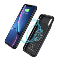 Smart Qi Wireless Power Bank Battery Charger Case 4500mAh for iPhone XR - Black