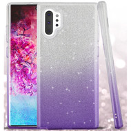 Full Glitter Hybrid Protective Case for Samsung Galaxy Note 10 Plus - Gradient Purple