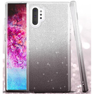 Full Glitter Hybrid Protective Case for Samsung Galaxy Note 10 Plus - Gradient Black