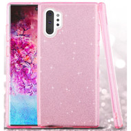 Full Glitter Hybrid Protective Case for Samsung Galaxy Note 10 Plus - Pink