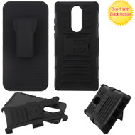 Advanced Armor Hybrid Kickstand Case with Holster Belt Clip for Coolpad Legacy - Black