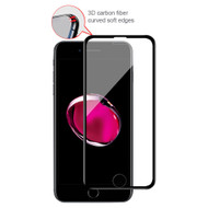 3D Carbon Fiber Full Coverage Tempered Glass Screen Protector for iPhone 8 Plus / 7 Plus / 6S Plus / 6 Plus - Black
