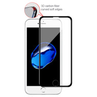 3D Carbon Fiber Full Coverage Soft Edge Tempered Glass Screen Protector for iPhone 8 / 7 / 6S / 6 - Black