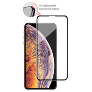 3D Carbon Fiber Full Coverage Soft Edge Tempered Glass Screen Protector for iPhone 11 Pro Max / iPhone XS Max - Black