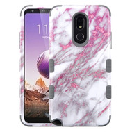 Military Grade Certified TUFF Hybrid Armor Case for LG Stylo 5 - Marble Pink