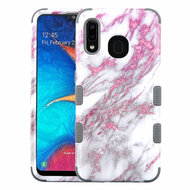 Military Grade Certified TUFF Hybrid Armor Case for Samsung Galaxy A20 - Marble Pink