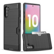 Card To Go Hybrid Case for Samsung Galaxy Note 10 - Black