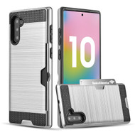 Card To Go Hybrid Case for Samsung Galaxy Note 10 - Silver