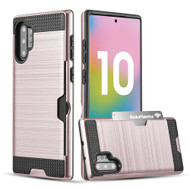 Card To Go Hybrid Case for Samsung Galaxy Note 10 Plus - Rose Gold