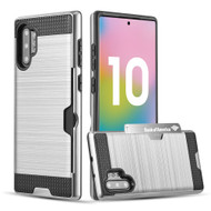 Card To Go Hybrid Case for Samsung Galaxy Note 10 Plus - Silver