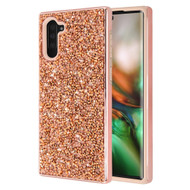 Desire Mosaic Crystal Hybrid Case for Samsung Galaxy Note 10 - Rose Gold