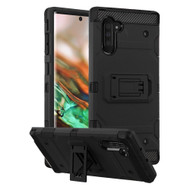 Military Grade Certified Storm Tank Hybrid Armor Case with Stand for Samsung Galaxy Note 10 - Black