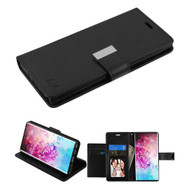 Xtra Series Essential Leather Wallet Stand Case for Samsung Galaxy Note 10 Plus - Black