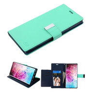 Xtra Series Essential Leather Wallet Stand Case for Samsung Galaxy Note 10 Plus - Teal Green