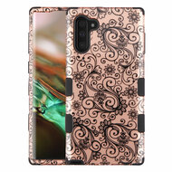 Military Grade Certified TUFF Hybrid Armor Case for Samsung Galaxy Note 10 - Four Leaf Clover Rose Gold