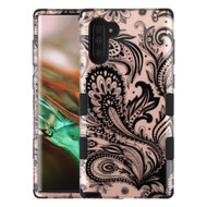 Military Grade Certified TUFF Hybrid Armor Case for Samsung Galaxy Note 10 - Phoenix Flower Rose Gold