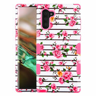 Military Grade Certified TUFF Hybrid Armor Case for Samsung Galaxy Note 10 - Pink Fresh Roses