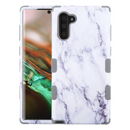 Military Grade Certified TUFF Hybrid Armor Case for Samsung Galaxy Note 10 - Marble White