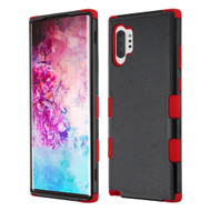 Military Grade Certified TUFF Hybrid Armor Case for Samsung Galaxy Note 10 Plus - Black Red