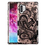 Military Grade Certified TUFF Hybrid Armor Case for Samsung Galaxy Note 10 Plus - Phoenix Flower Rose Gold
