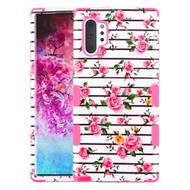 Military Grade Certified TUFF Hybrid Armor Case for Samsung Galaxy Note 10 Plus - Pink Fresh Roses