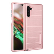 Haptic Dots Texture Anti-Slip Hybrid Armor Case for Samsung Galaxy Note 10 - Rose Gold