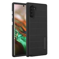 Haptic Dots Texture Anti-Slip Hybrid Armor Case for Samsung Galaxy Note 10 - Black