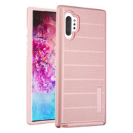 Haptic Dots Texture Anti-Slip Hybrid Armor Case for Samsung Galaxy Note 10 Plus - Rose Gold