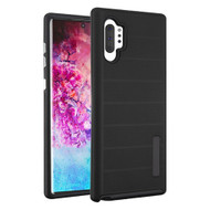 Haptic Dots Texture Anti-Slip Hybrid Armor Case for Samsung Galaxy Note 10 Plus - Black