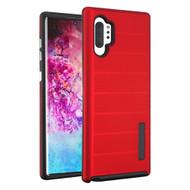 Haptic Dots Texture Anti-Slip Hybrid Armor Case for Samsung Galaxy Note 10 Plus - Red