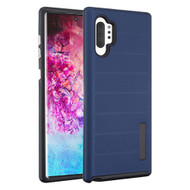Haptic Dots Texture Anti-Slip Hybrid Armor Case for Samsung Galaxy Note 10 Plus - Navy Blue