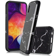 Hybrid Multi-Layer Armor Case for Samsung Galaxy A10e - Marble Black