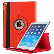 360 Degree Smart Rotating Leather Case for iPad 9.7 (2018/2017) - Red
