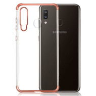Klarion Crystal Clear Tough Case for Samsung Galaxy A20 - Rose Gold