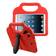 Kids Friendly Drop Resistant Case with Handle & Stand for iPad (2018/2017) / iPad Pro 9.7 / iPad Air 2 - Tie Red