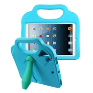 Kids Friendly Drop Resistant Case with Handle & Stand for iPad (2018/2017) / iPad Pro 9.7 / iPad Air 2 - Tie Blue