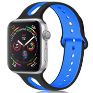 *Sale* Duo Color Sport Band Watch Strap for Apple Watch 40mm / 38mm - Black Blue
