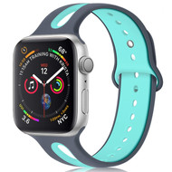 Duo Color Sport Band Watch Strap for Apple Watch 40mm / 38mm - Grey Baby Blue