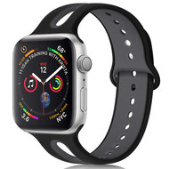 Duo Color Sport Band Watch Strap for Apple Watch 44mm / 42mm - Black Grey