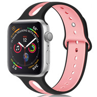 *Sale* Duo Color Sport Band Watch Strap for Apple Watch 44mm / 42mm - Black Pink