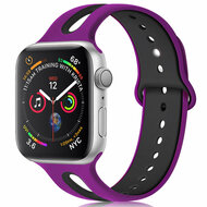 *Sale* Duo Color Sport Band Watch Strap for Apple Watch 44mm / 42mm - Rose Purple Black