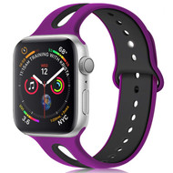 Duo Color Sport Band Watch Strap for Apple Watch 44mm / 42mm - Rose Purple Black