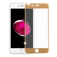 Premium Full Coverage 2.5D Tempered Glass Screen Protector for iPhone 8 Plus / 7 Plus - Gold