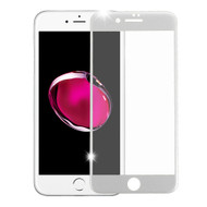 Premium Full Coverage 2.5D Tempered Glass Screen Protector for iPhone 8 Plus / 7 Plus - Silver