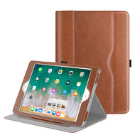 Slim Folding Smart Leather Folio Stand Case for iPad (2018/2017) / iPad Air 2 / iPad Air - Brown